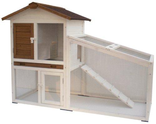 AK for Pets Hasenstall 2 Etagen, weiß, 140x65x100 cm - 1
