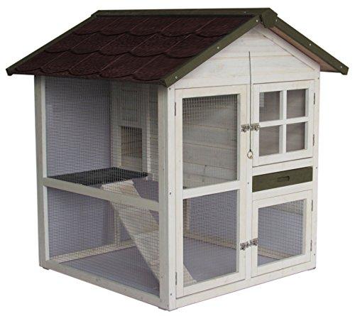 AK for Pets Hasenstall Cottage 2 Etagen 105x105x110cm - 1