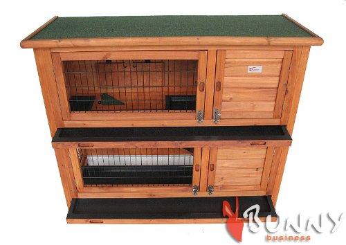 Bunny Business Laufstall doppelstöckig für Kaninchen 126×25,5x52cm