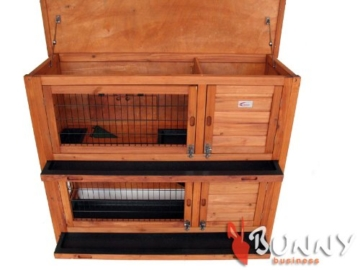Bunny Business Laufstall doppelstöckig für Kaninchen 126×25,5×52 cm