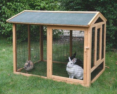 kaninchen au engehege wie du dein kaninchen halten solltest. Black Bedroom Furniture Sets. Home Design Ideas