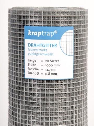Hasendraht KrapTrap® 12.7 mm Masche, 100 cm Breite, 20 m Länge