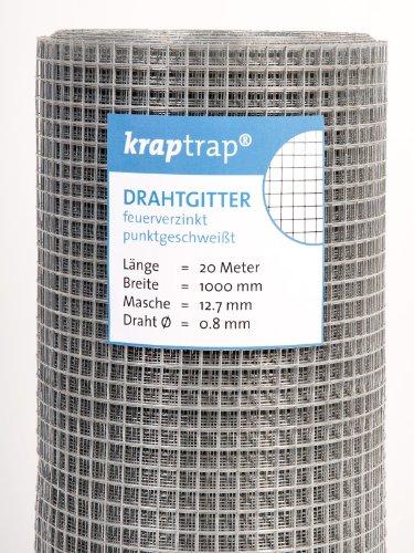 Hasendraht KrapTrap® 12.7 mm Masche, 100 cm Breite, 20 m Länge -